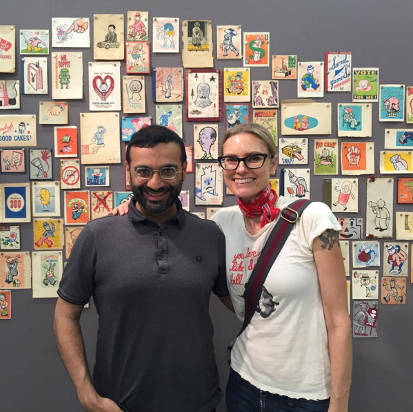 Aimee and I at my retrospective exhibition earlier this summer.