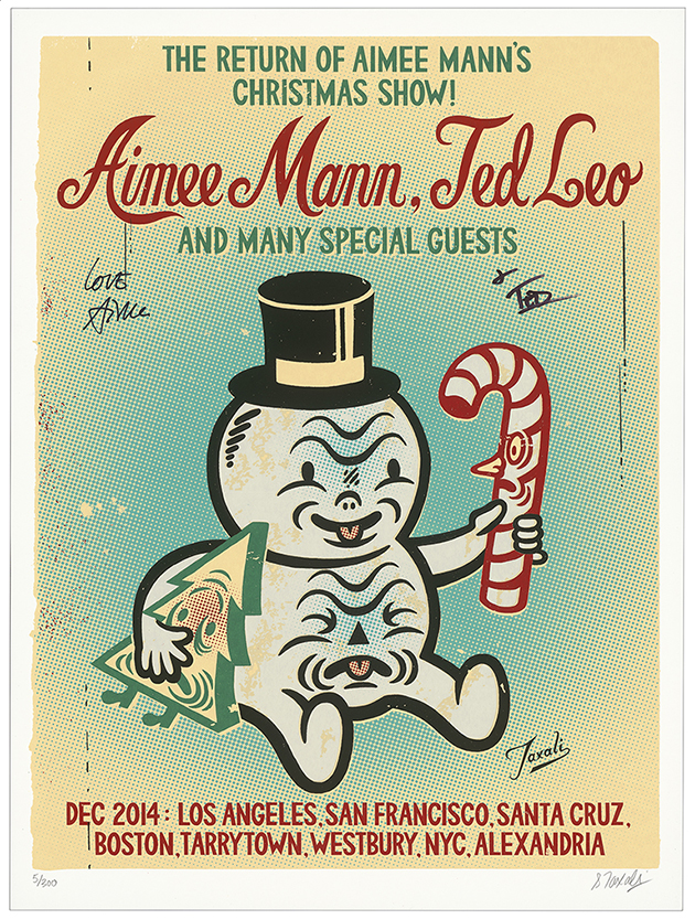 My poster for Aimee Mann and Ted Leo's Christmas Show from 2014.