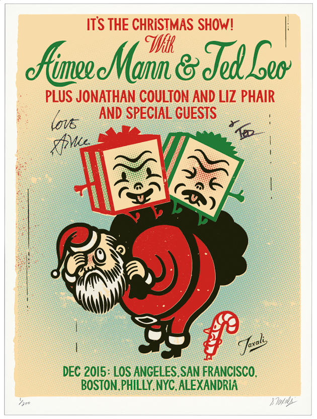 My Poster for Aimee Mann and Ted Leo's Christmas Show 2015
